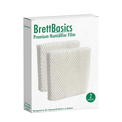 BrettBasics - Humidifier Wicking Filter T Compatible with Honeywell HFT600T, HFT600PDQ, Made for HEV615 and HEV620 Models (2-Pack)
