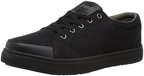 Propet Women's Aris Skate Shoe, Black, 10 Wide US