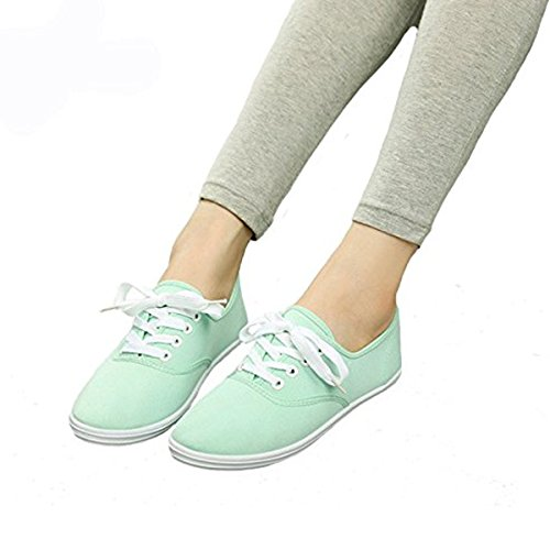Dear Time casual Candy Color Canvas Shoes Green 7WYyzk