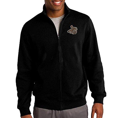 Men's Crooks And Castles Hand Leopard Logo Full-Zip Fleece Jacket XXL