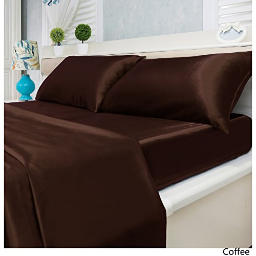 Royal Home Decor 4-pc Super Soft Deep Pocket Satin Sheet Set ()