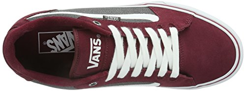 Vans Faulkner, Men's Low-Top Trainers Red/Pewter/White