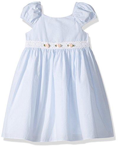 Girls Seersucker Dress - Laura Ashley London Little Girls' Seersucker Stripe Dress, Blue, 5