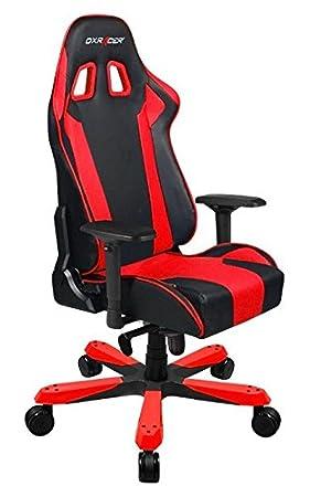 DXRacer OH/KS06/NR silla para videojuegos Silla para videojuegos de PC Asiento acolchado - Sillas para videojuegos (Silla para videojuegos de PC, 136 ...