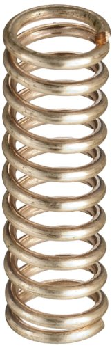 """Silver-Coated Beryllium Copper Compression Spring .345"""" OD x .045"""" Wire Size x 1.125"""" Free Length"""