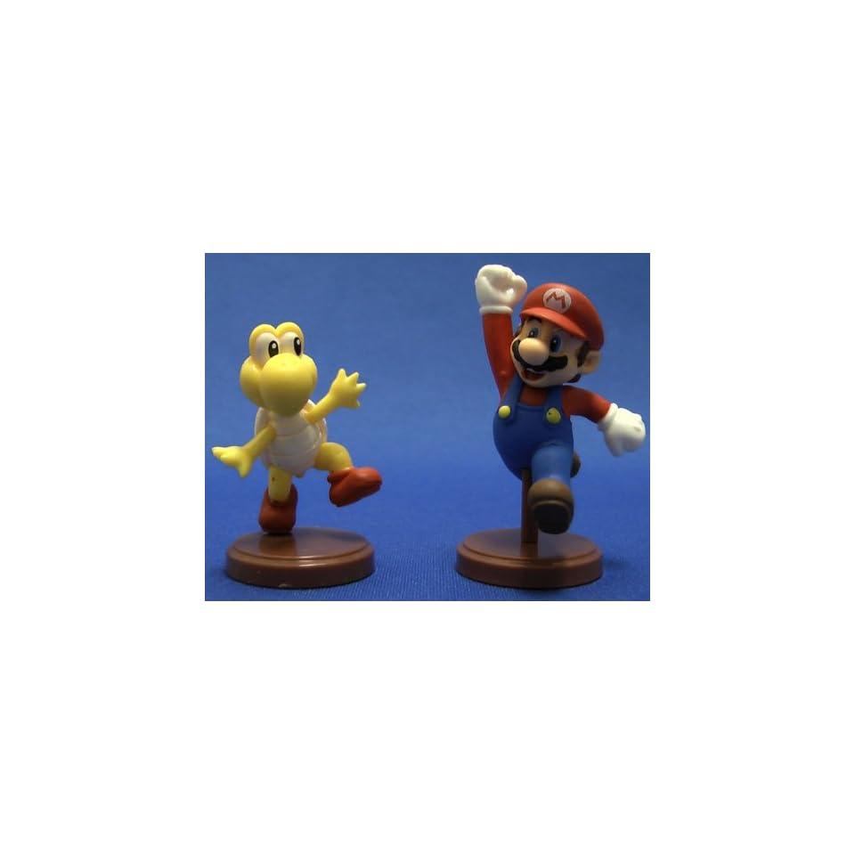 Furuta Super Mario Bros Figure Mini Mario Koopa Troopa Set