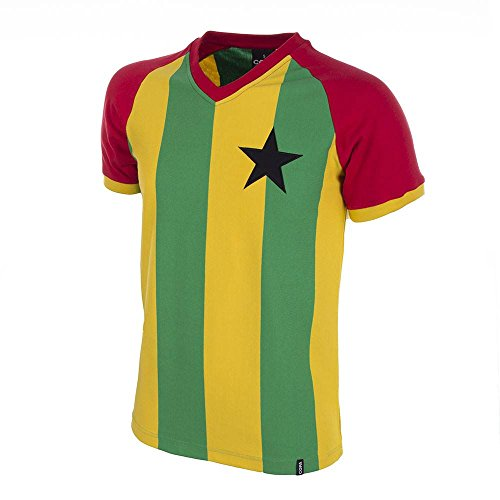 a0665f65f40 Copa Classics Ghana 1980\'s Short Sleeve Retro Football Shirt