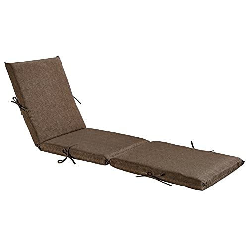 Bossima Indoor/Outdoor Coffee Chaise Lounge Cushion,Spring/Summer Seasonal Replacement  Cushions.