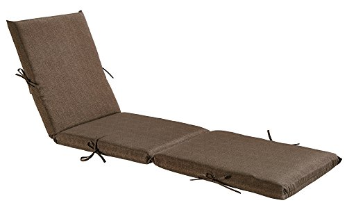 Bossima Indoor/Outdoor Coffee Chaise Lounge Cushion,Spring/Summer Seasonal Replacement Cushions. ()