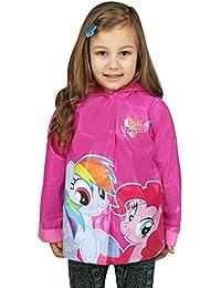 Little Girls' My Little Pony Rainbow Waterproof Outwear Hooded Rain Coat - Toddler