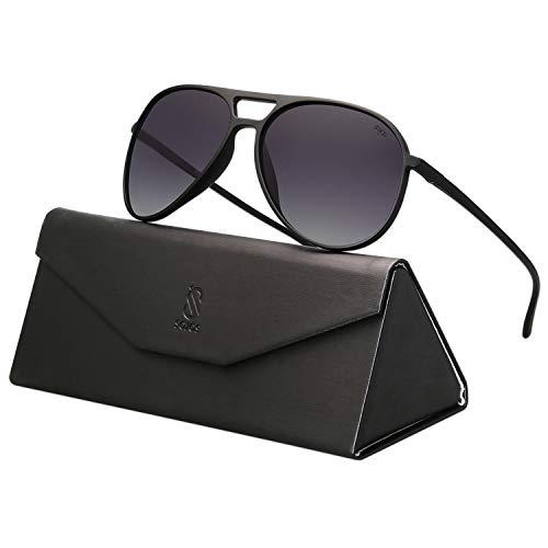 High Quality Aviator Sunglasses - SOJOS Classic Polarized Ultra Lightweight Flexible
