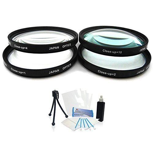 58mm Digital High-Resolution Close-Up Macro Filter Set (+1, +2, +4, and +10 Diopters) with Pouch and Carry Case for Select Canon Digital SLR Cameras. UltraPro Deluxe Accessory Set Included by UltraPro