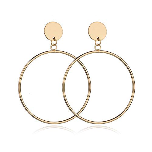 Chic Hoop Earrings, 18k Gold Plated or Silver Plated Big Earring Stud For Women