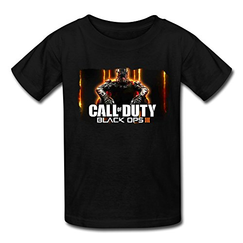LR Cod Call Of Duty Black Ops 3 T Shirt For Kids Big Boys'tee Shirt Black M (Blades Of Chaos For Sale)