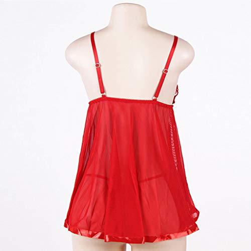Pijama Encaje Transparente Vestido De Interior Lencería Múltiple Tamaño Sexy Para Con Halter color Más Eslinga Ropa Sleepwear Home Mujer Tentación X0vwwq