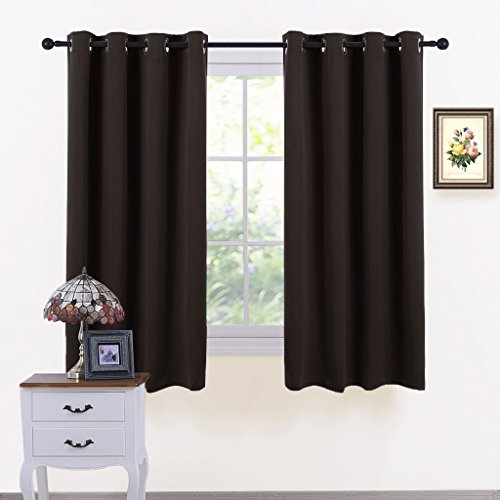 PONY DANCE Blackout Curtains Set - Window Treatments Solid E