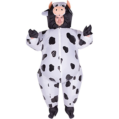 Inflatable Costumes Cow (Bodysocks - Inflatable Cow Blow Up Fatsuit Animal Farm Adult Fancy Dress Costume)