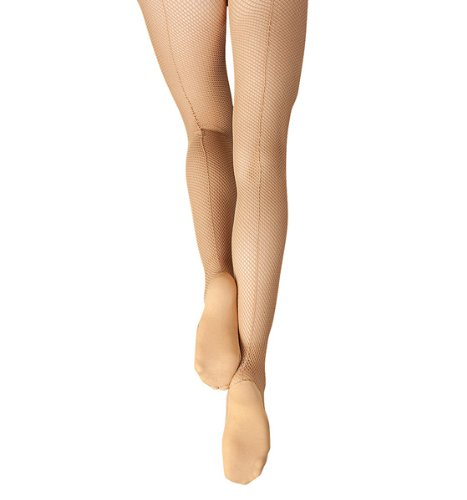 Capezio Women's Professional Fishnet Tight With Seams,Caramel,Medium/Tall Classic Back Seam Fishnet