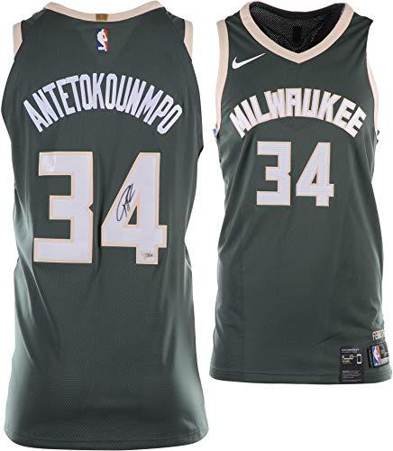 Giannis Antetokounmpo Milwaukee Bucks Autographed Green Nike Authentic Swingman Jersey - Fanatics Authentic Certified ()