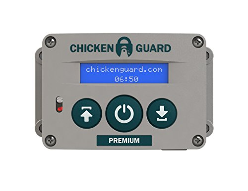 ChickenGuard 'Premium' Automatic Chicken Coop Pop Door Opener Lifts Up To 2 lbs, Timer/Light Sensor | Outdoor/Indoor Auto Door Opener, Chicken Coop Accessories