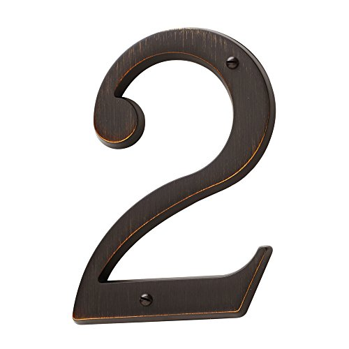 Baldwin Estate 90672.112.CD Solid Brass Traditional House Number Two in Venetian Bronze, ()