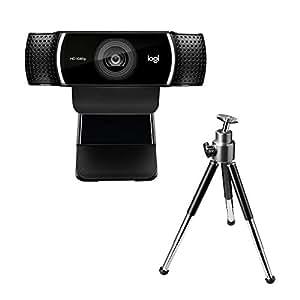 Logitech C922 Pro Stream Webcam, streaming en Full HD 1080p con trípode y licencia gratuita de 3 meses para XSplit - Negro