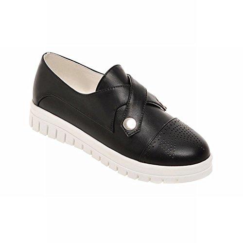 Latasa Mode Féminine Slip Sur Mocassins Plats Chaussures Noir