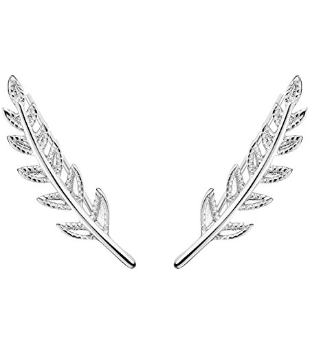 FUNRUN JEWELRY Stainless Earrings Crawlers product image