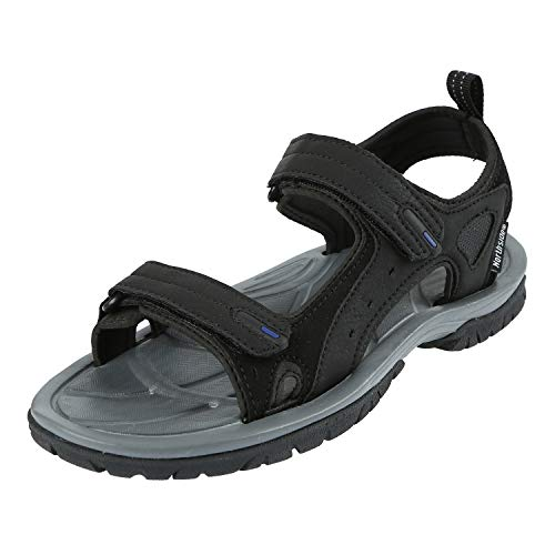 rside II Open-Toe Sandal,Black/Royal,8 M US ()