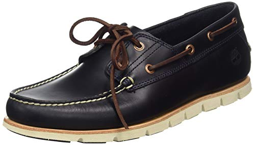 Timberland Mens Tidelands 2 Eye Sahara Loafer Smart Leather Shoes - Dark Indigo - 9.5