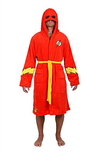 Superhero Robes (DC Comics Red Flash Hooded Fleece Robe (One Size))