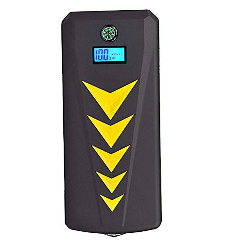 WPFC Car Jump Starter Emergency, 24000Mah 800A Peak Multifunction Quick Charge Power Bank, Dual USB Charge Port Flashlight,Yellow