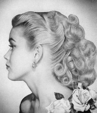 1950s Hairstyles like the 1950s hairstyle and makeup hairstyle tester 1950s hairstyles hairstyle tester pinterest fashion and How To Handle Long Hair Recreating Glamorous 1950s Hairstyles Miss Ingerid 9781934268728 Amazoncom Books