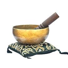 """6"""" Superb B Crown Chakra Old Tibetan Singing Bowl, Meditation bowls,Hand beaten singing bowl, Handmade bowl from Nepal,Singing bowls."""