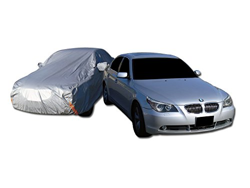 Autobotusa 4900MM 4 LAYER WATERPROOF ANTI UV RAIN SNOW RESISTANT CAR COVER+MIRROR POCKET C1 ()