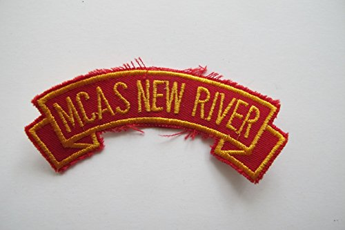 MCAS NEW RIVER Word Tag Embroidery Sew On Applique Patch by ade_patch
