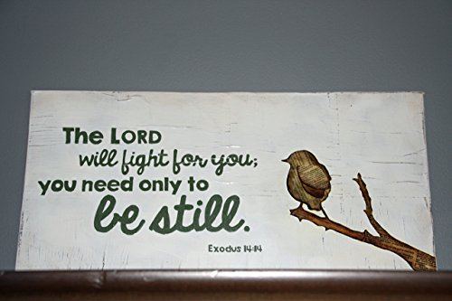 Exodus 14:14 Scripture Wall Art | Christian Home Decor | The Lord Will Fight for You