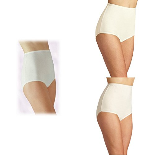 Vanity Fair Women's Perfectly Yours Tailored Cotton Brief Panty 15318, Star White/Candleglow/Fawn, 4X-Large/11