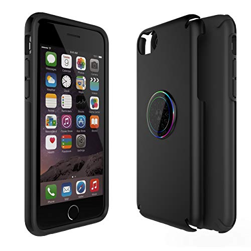 CCSJ LLC iPhone 6 Case, iPhone 6s Case, iPhone 7 Case,iPhone 8 Case,Full Body Protection Cover with (EMF) Anti-Radiation Protection & Negative Ion Energy for Apple iPhone 6/6s/7/8 (Matte Black)