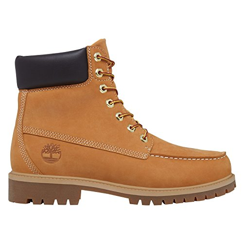 Timberland Mens 6-Inch Premium Waterproof Moc Toe Wheat Nubuck Boots 10.5 US