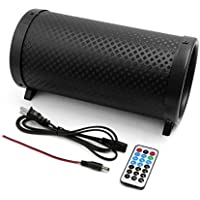 uxcell Black 5 Inch Cylinder Shaped PVC Car Vehicle Motorcycle Stereo Audio Bass Subwoofer