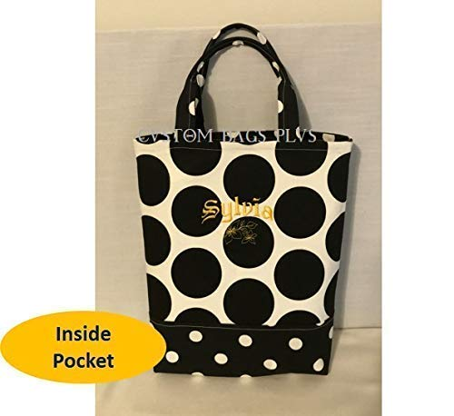 8525b26c Hand/Bible Bag with Inside Pocket shown in Medium Polka Dot and ...