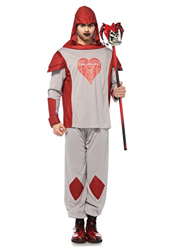 Leg Avenue Men's Card Guard Costume, Red, -