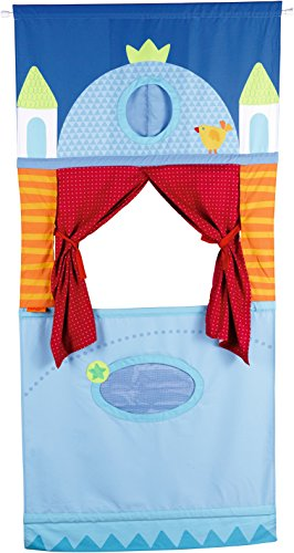 (HABA Doorway Puppet Theater - Space Saver with Adjustable Rod Fits in Most Doorways)