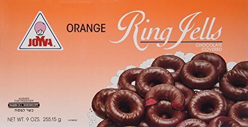 Joyva Orange Jelly Rings, Ring Jells Kosher for Passover, 9-Ounce (Pack of -