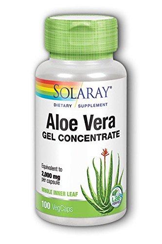 Aloe Vera Gel Capsules - Solaray Aloe Vera Gel, 2000 mg, 100 Count