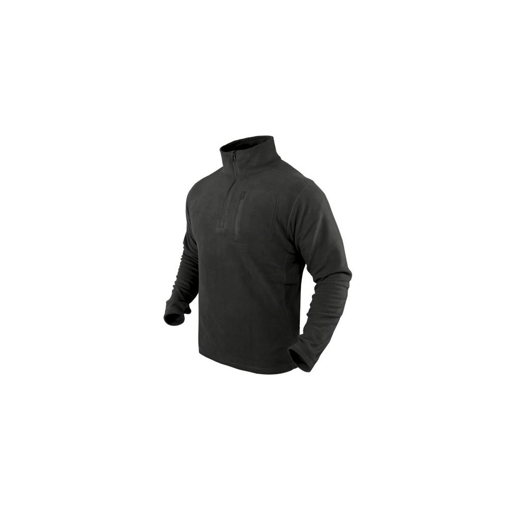 Condor Black #607 1/4 Zip Fleece Pullover - XL 607-Black-XL
