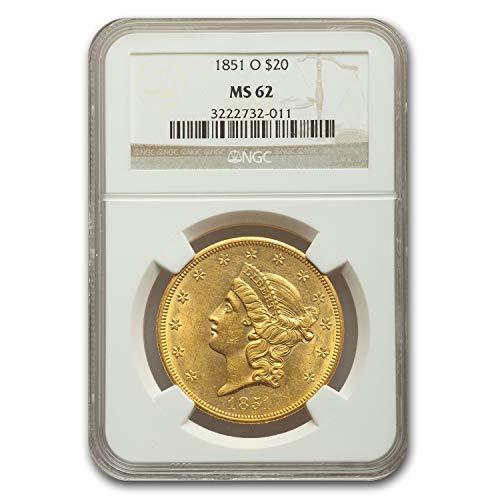 1851 O $20 Liberty Gold Double Eagle MS-62 NGC G$20 MS-62 NGC