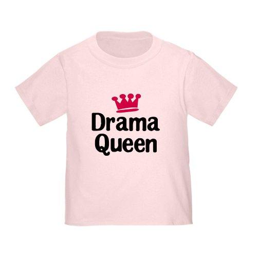 CafePress Drama Queen T-Shirt Cute Toddler T-Shirt, 100% Cotton -