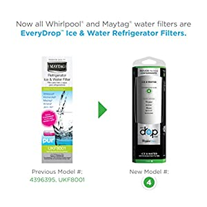 EveryDrop by Whirlpool Refrigerator Water Filter 4 (Pack of 1)